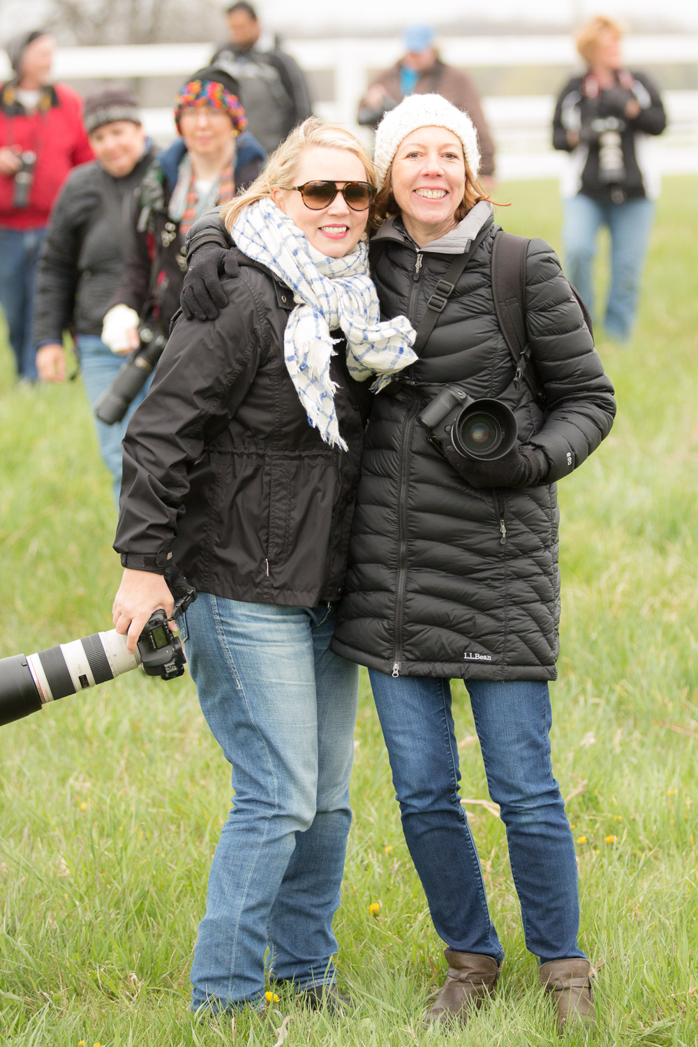 Anne Belmont and me after my April 2016 event  Horsing Around Chicago: Photographing the Tempel Lipizzans . Photo Credit: Chris Smith/Out of Chicago Photography.