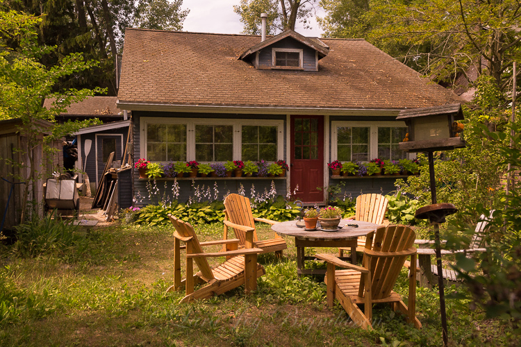 Tiny Ward's Island cottage, Toronto, Canada.