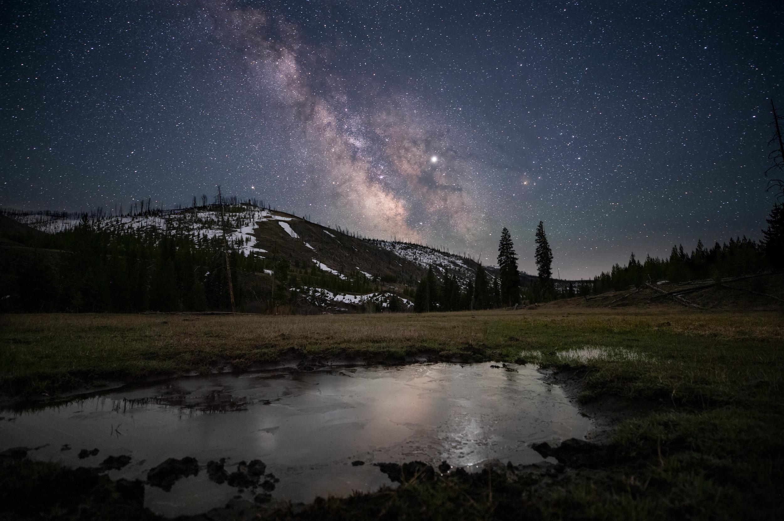 Cache Creek Milky Way. Yellowstone N.P. (May 2019)
