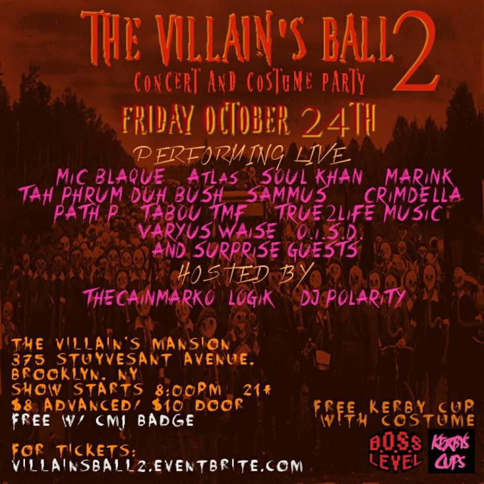 The Villains Mansion Brooklyn, NY 10/24