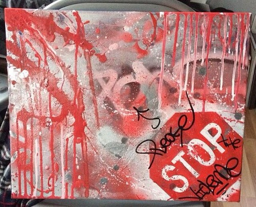 Mini Mural Please Stop the Violence by Scott Brown