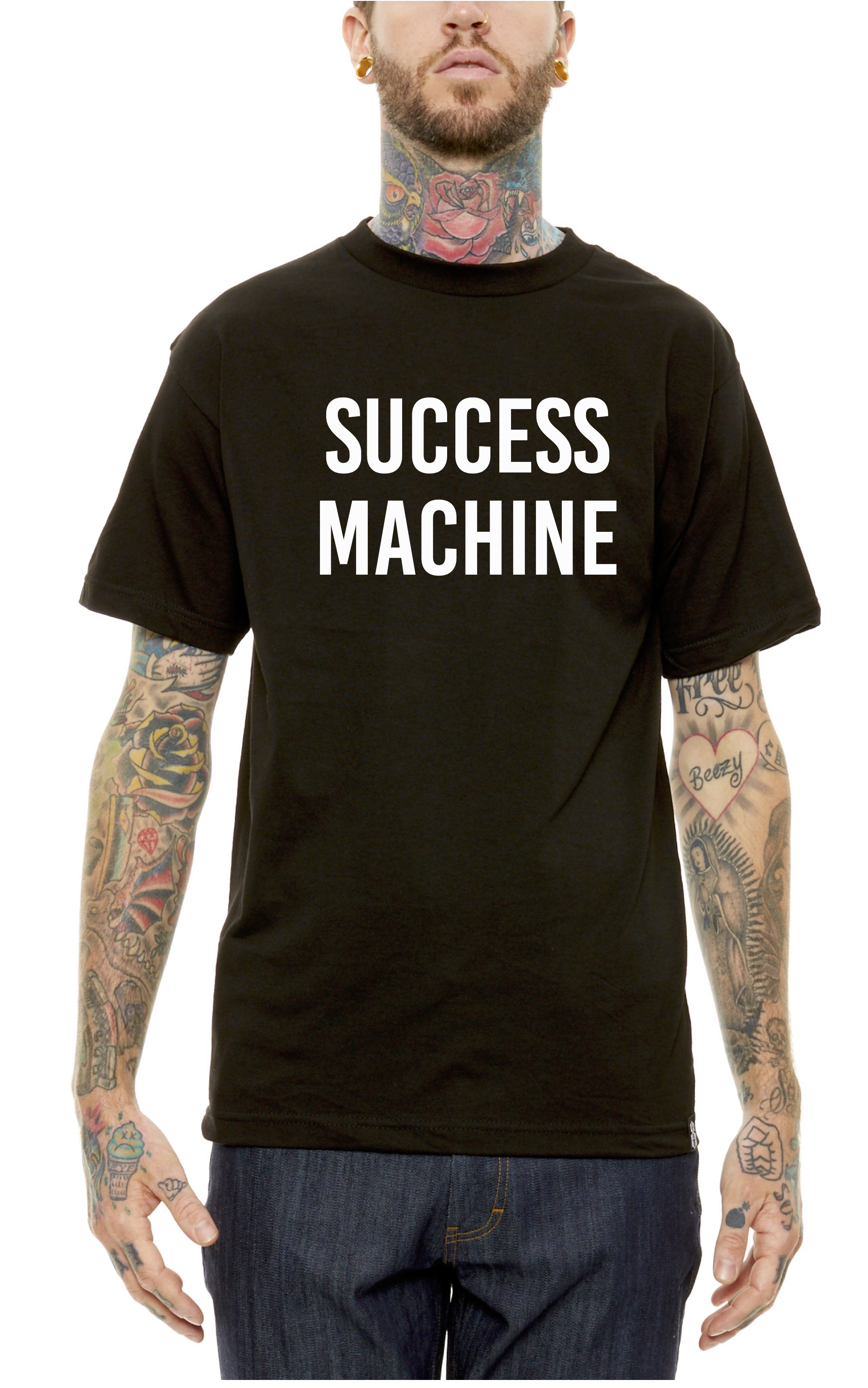 Here is a look at  Stereotype Co  latest collaboration with Comedian/Artist  Ray Vazquez  'Success Machine'. This tee was designed for those that are out there working hard. Success can only be defined by you.  The first 80 people who purchase a ticket for  Comedy Night At The Veranda will get one of these FREE. $15 ticket for a tee and a comedy show. Dopeness. See you tomorrow at  Silver Lake Golf Course & The Veranda  and sunday at  Shaolin Tee Party   Hit up  www.verandacomedy.eventbrite.com  use code STEREOTYPE for $5 off advanced tickets. All tee's are while supplies last