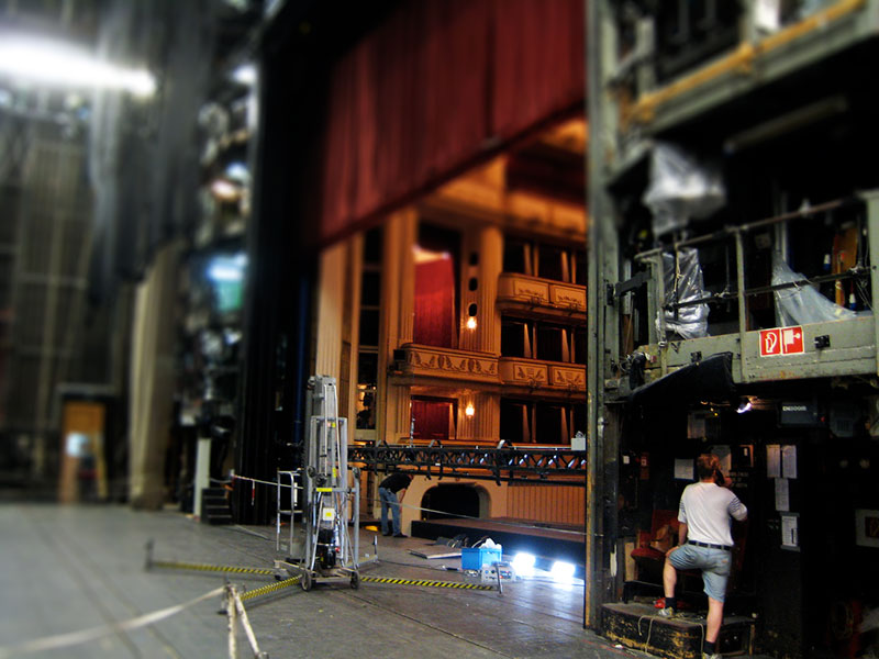 Backstage at the Vienna Opera. Photo:  Jeff Keyzer . Used under Creative Commons license.