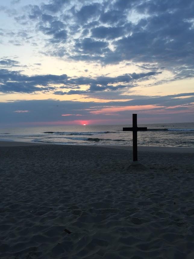 Our Cross on the Beach 2.JPG