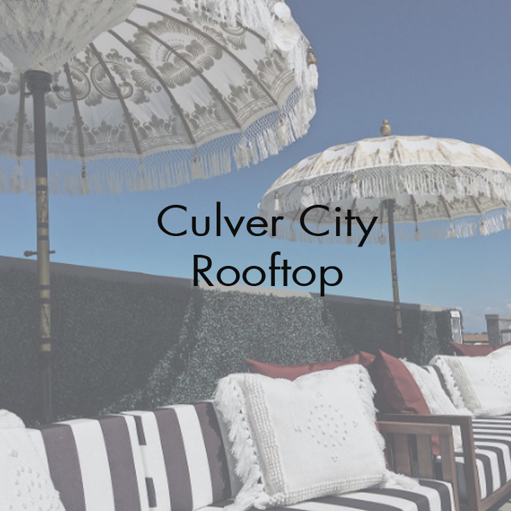 Indie Westside Apartments   Roof Lounge - Culver City, CA   Scope : Project management, exterior & interior renovations, design, and styling.  Spaces Include:  Rooftop lounge .