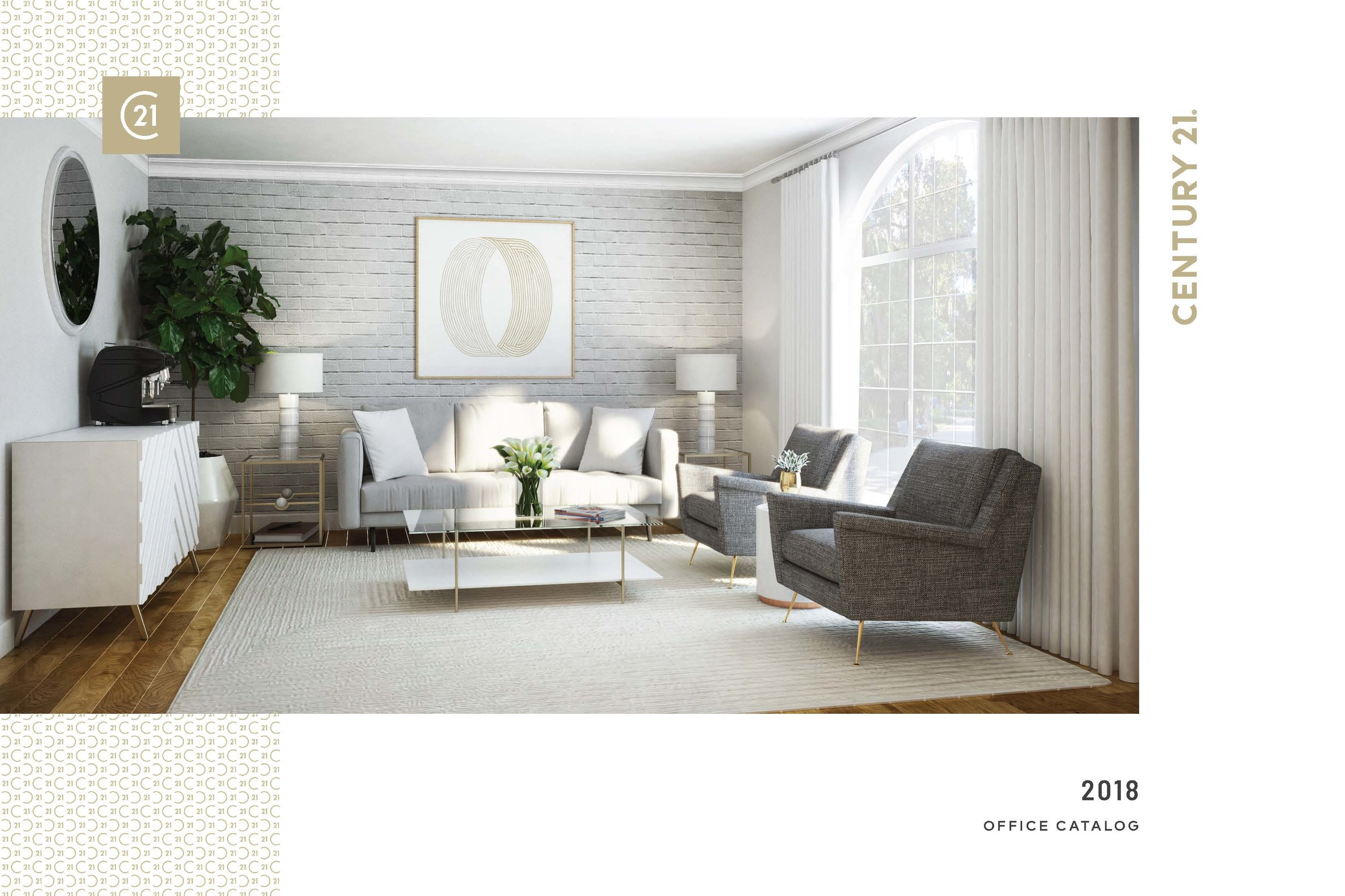 Scope : JSD partnered with Century 21 Real Estate® and Homepolish to create a unique brand book with custom designs and styles for the interiors of their offices. The brand book was distributed and designs implemented nationally.