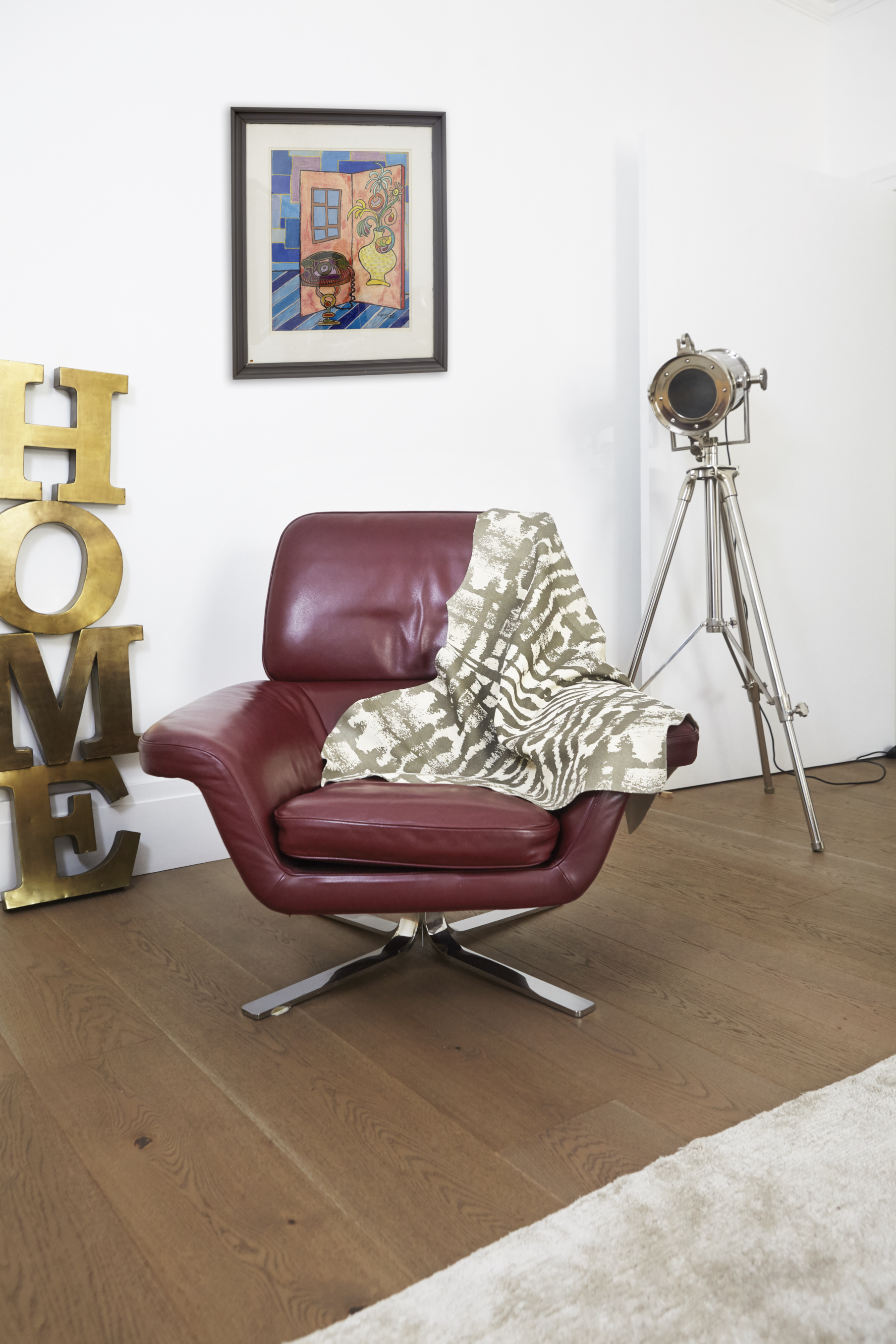Kete Pa Suede Throw, Beige + Bronze,  Hand Printed