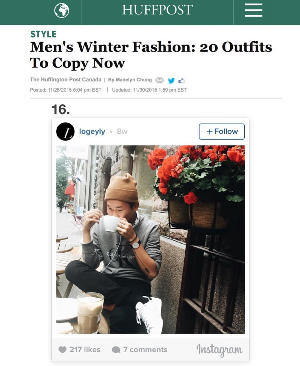 Huffington Post's  - Men's Winter Fashion: 20 Outfits to Copy Now