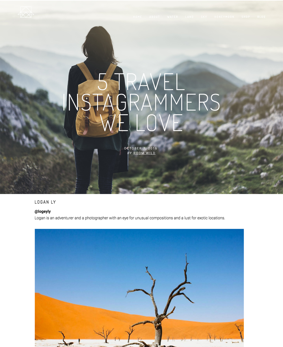 Room + Wild  - 5 Travel Instagrammers We Love