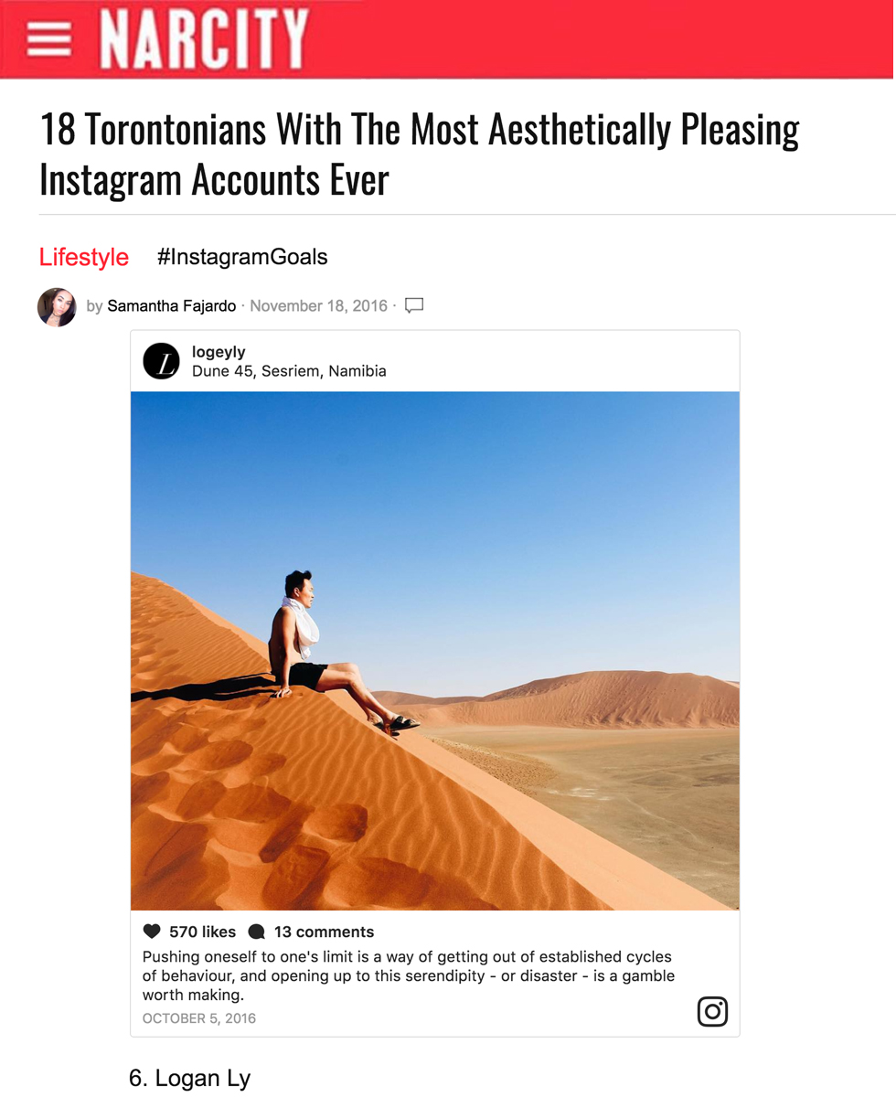 Narcity  -18 Torontonians With The Most Aesthetically Pleasing Instagram Accounts Ever