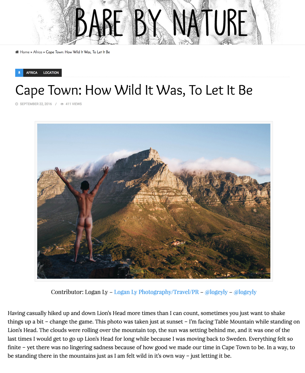 Bare By Nature  - Cape Town: How Wild it Was, To Let it Be