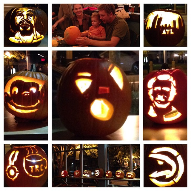 2014 Taproom Pumpkin Carving Contest entries