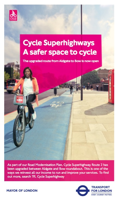 Transport for London Cycle Superhighways