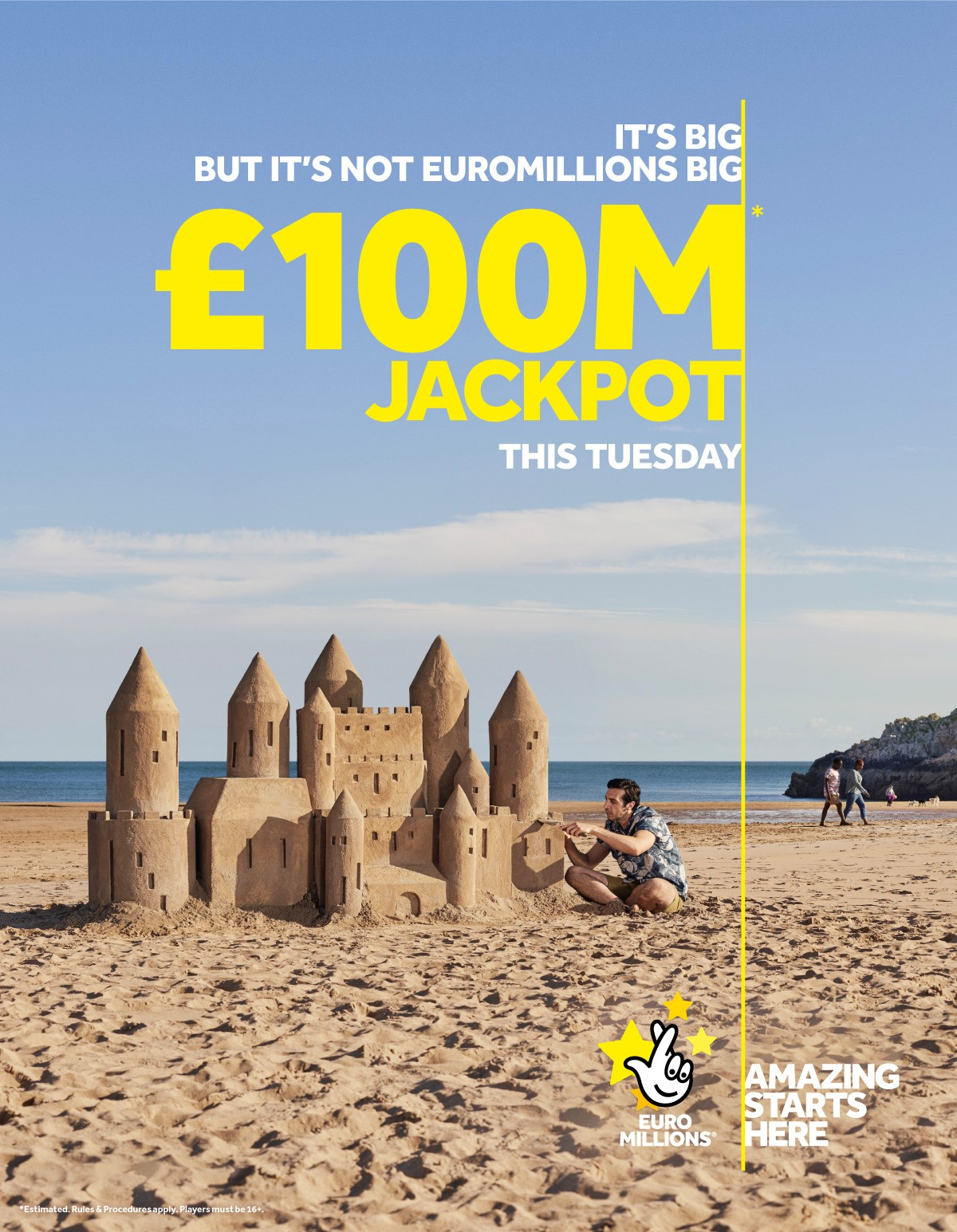 EURO MILLIONS SANDCASTLE DAVID HARRIMAN