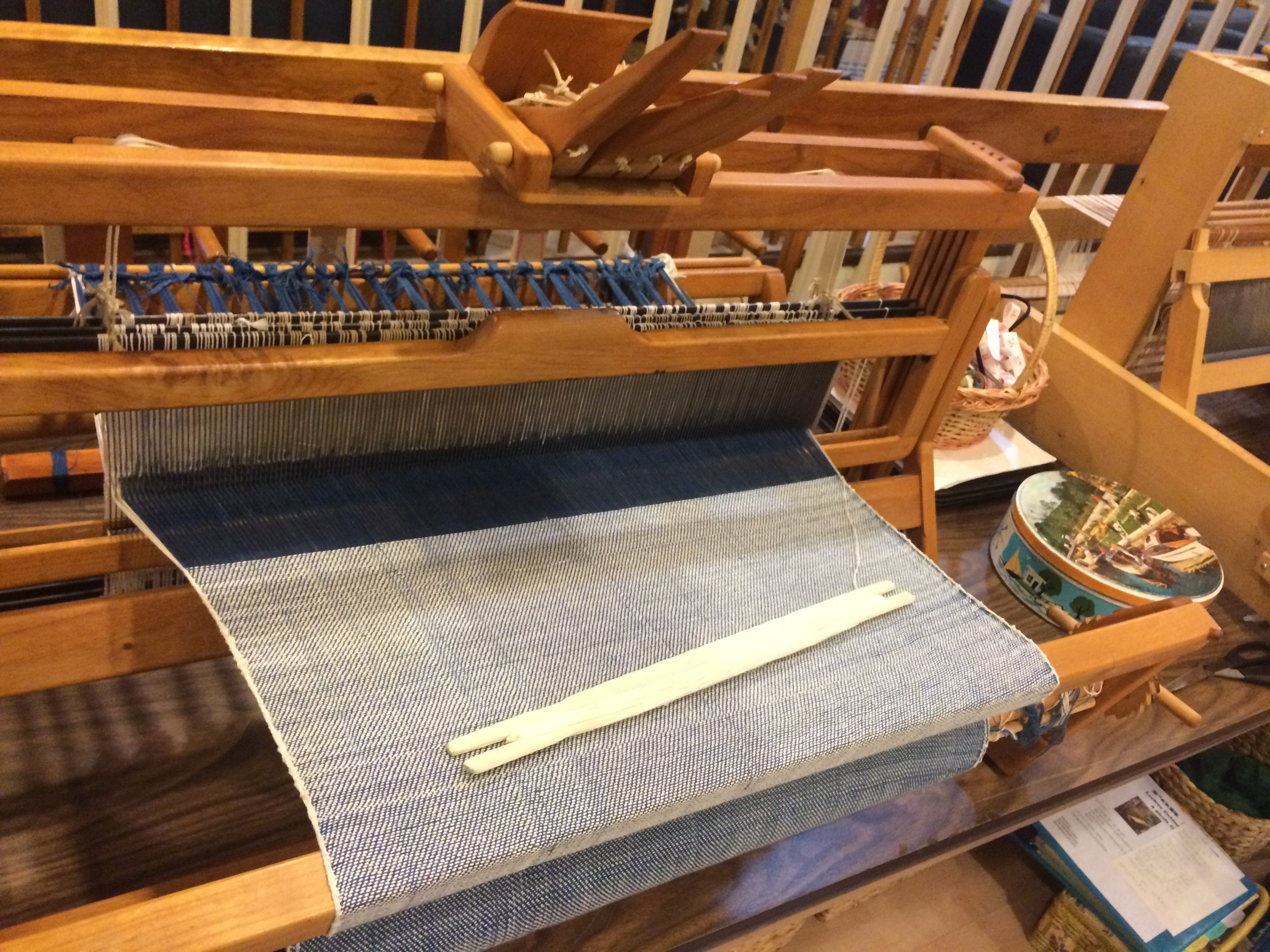 3x1 twill on a table loom.