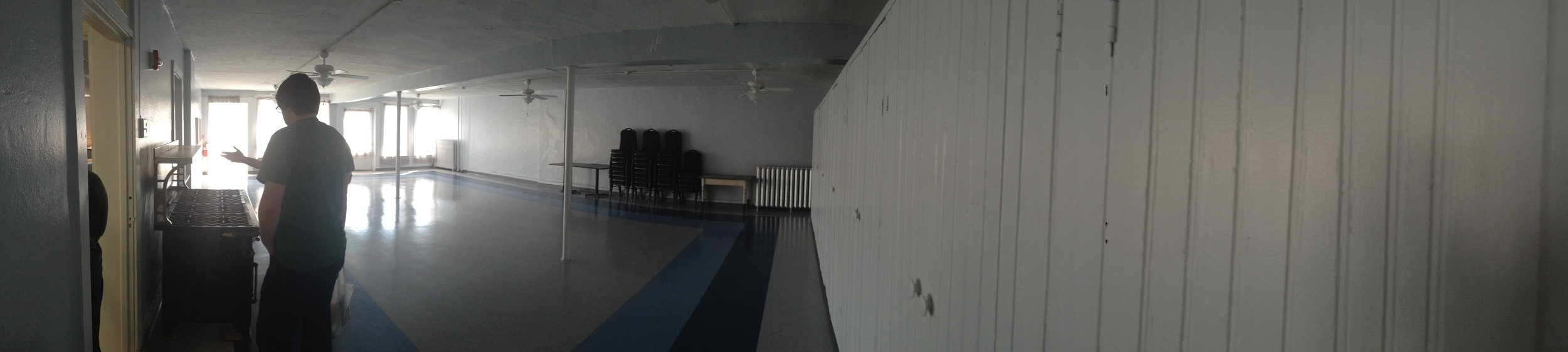 empty room next to kitchen
