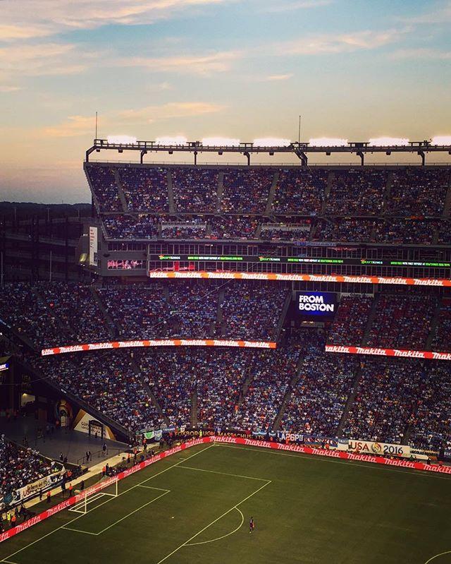Copa America match with @markpdetwiler