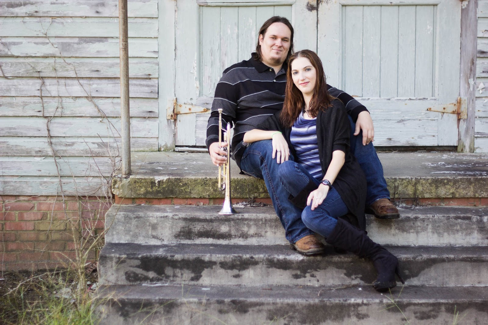 Eastern NC Engagement Photos | Tyler + Danielle | Bryant Tyson Photography | Cute Couples Pose Ideas | Marching Band