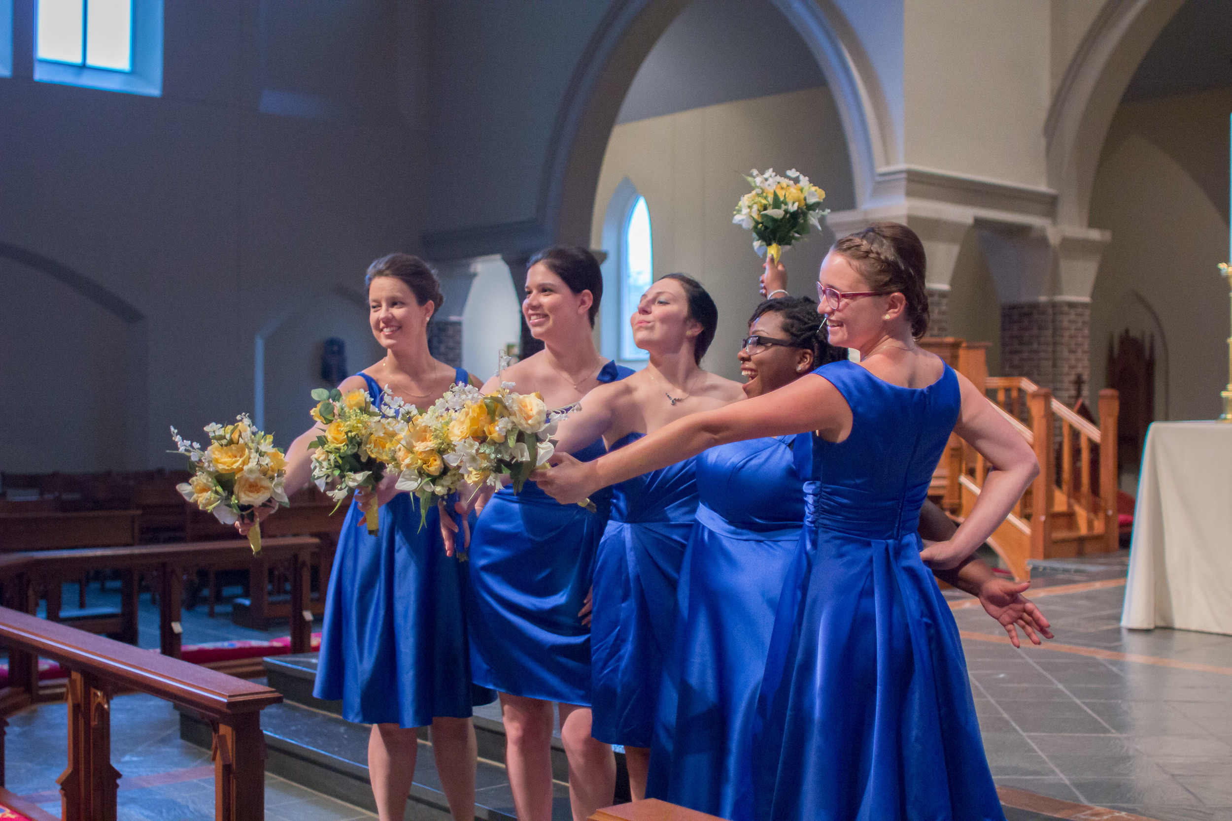 Brides maids beauty and the beast inspired wedding