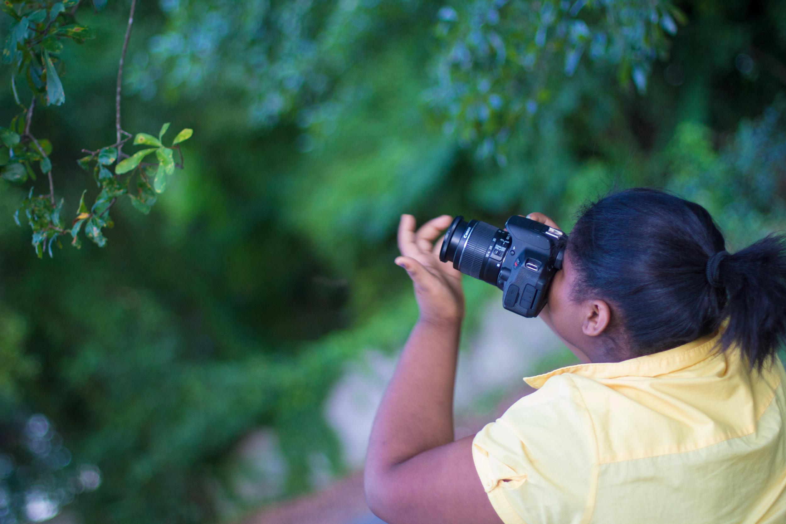 Kimora learning the art of photography