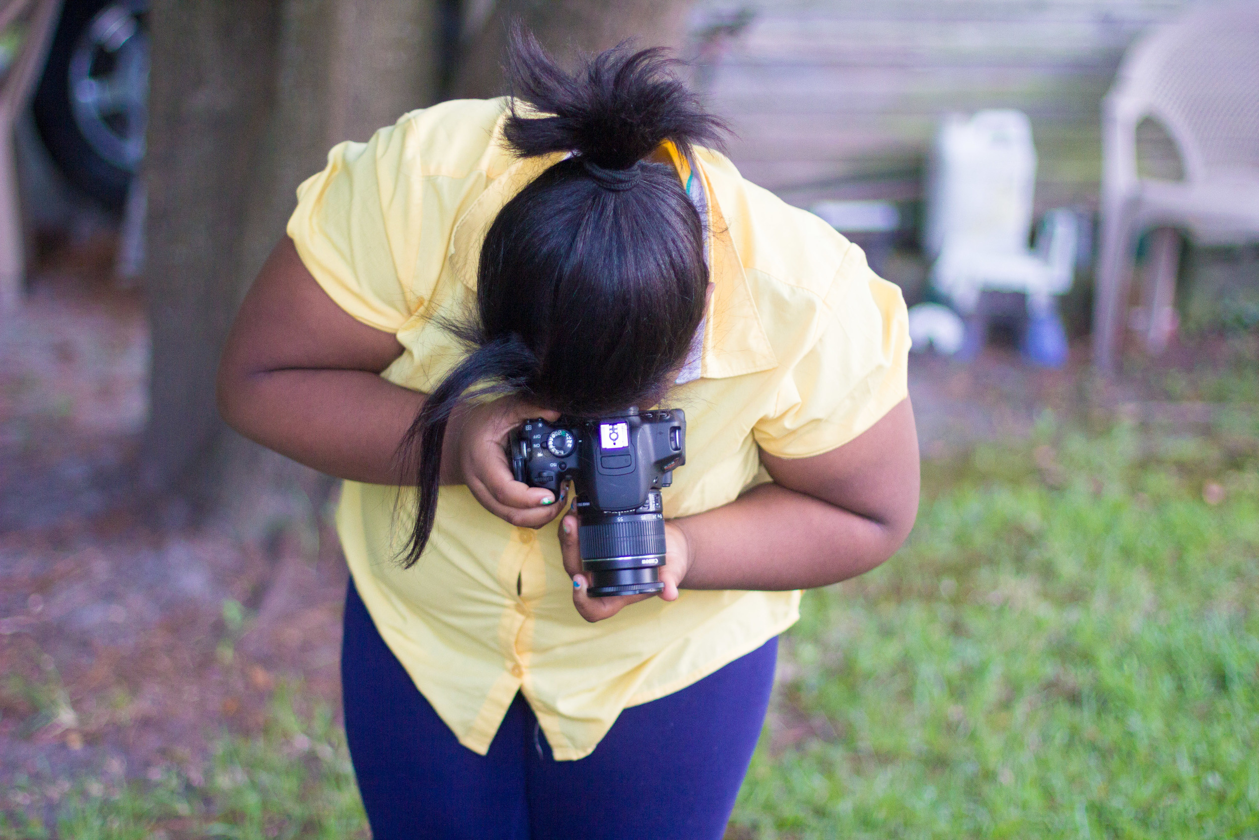 Teaching my niece to shoot photos in Greenville North Carolina