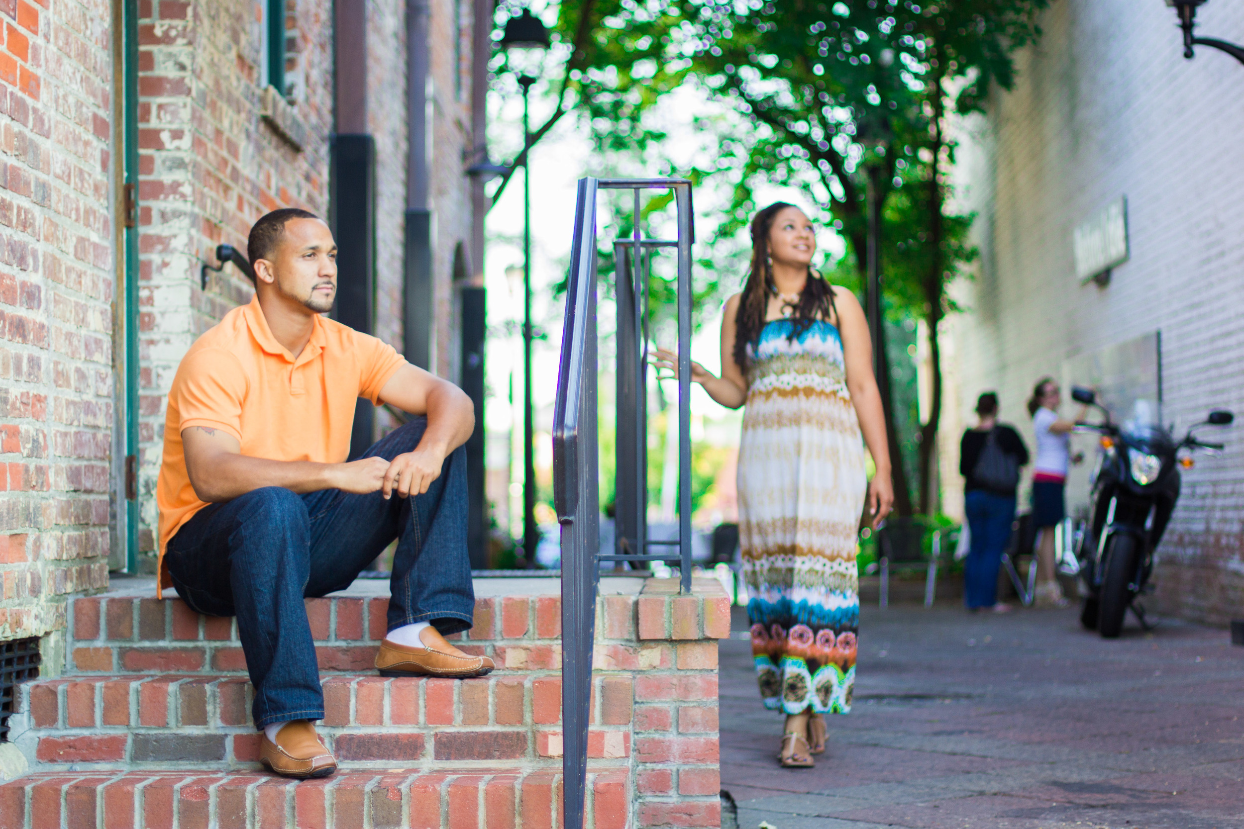 downtown greenville nc engagement anthony kim photography