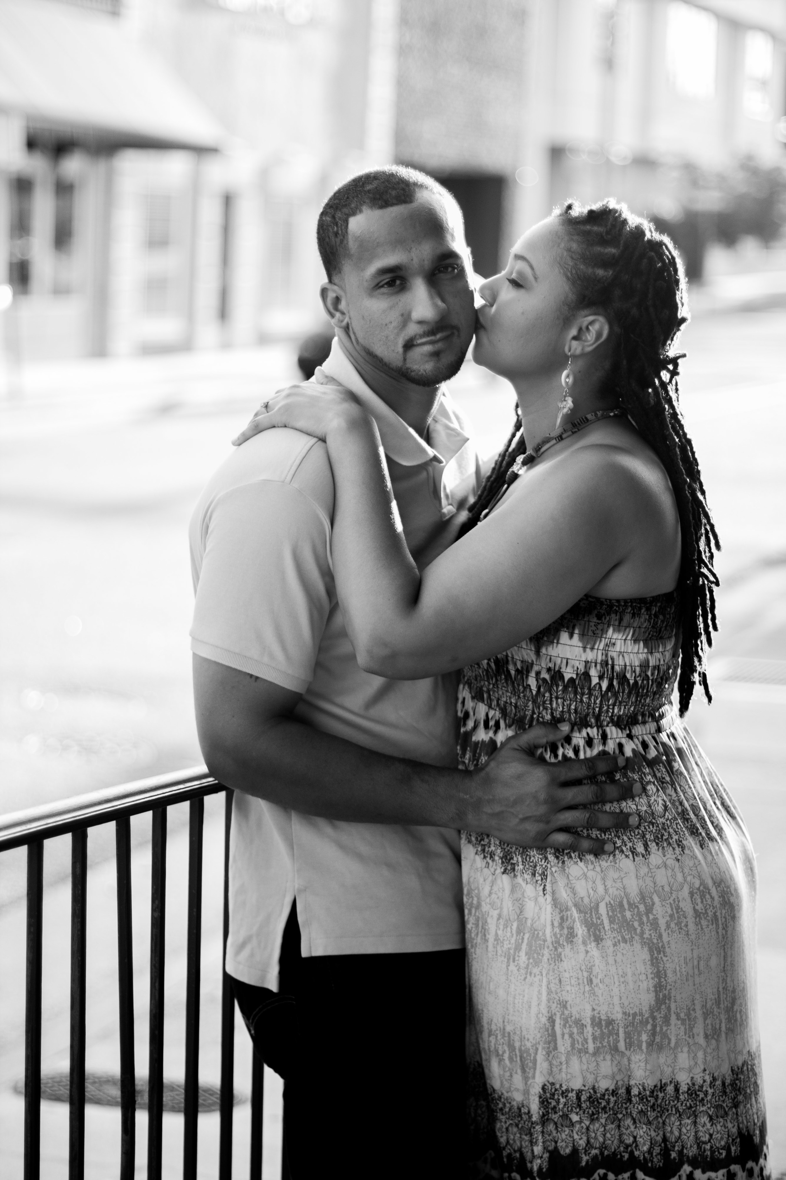 downtown greenville nc wedding kimberly anthony pose