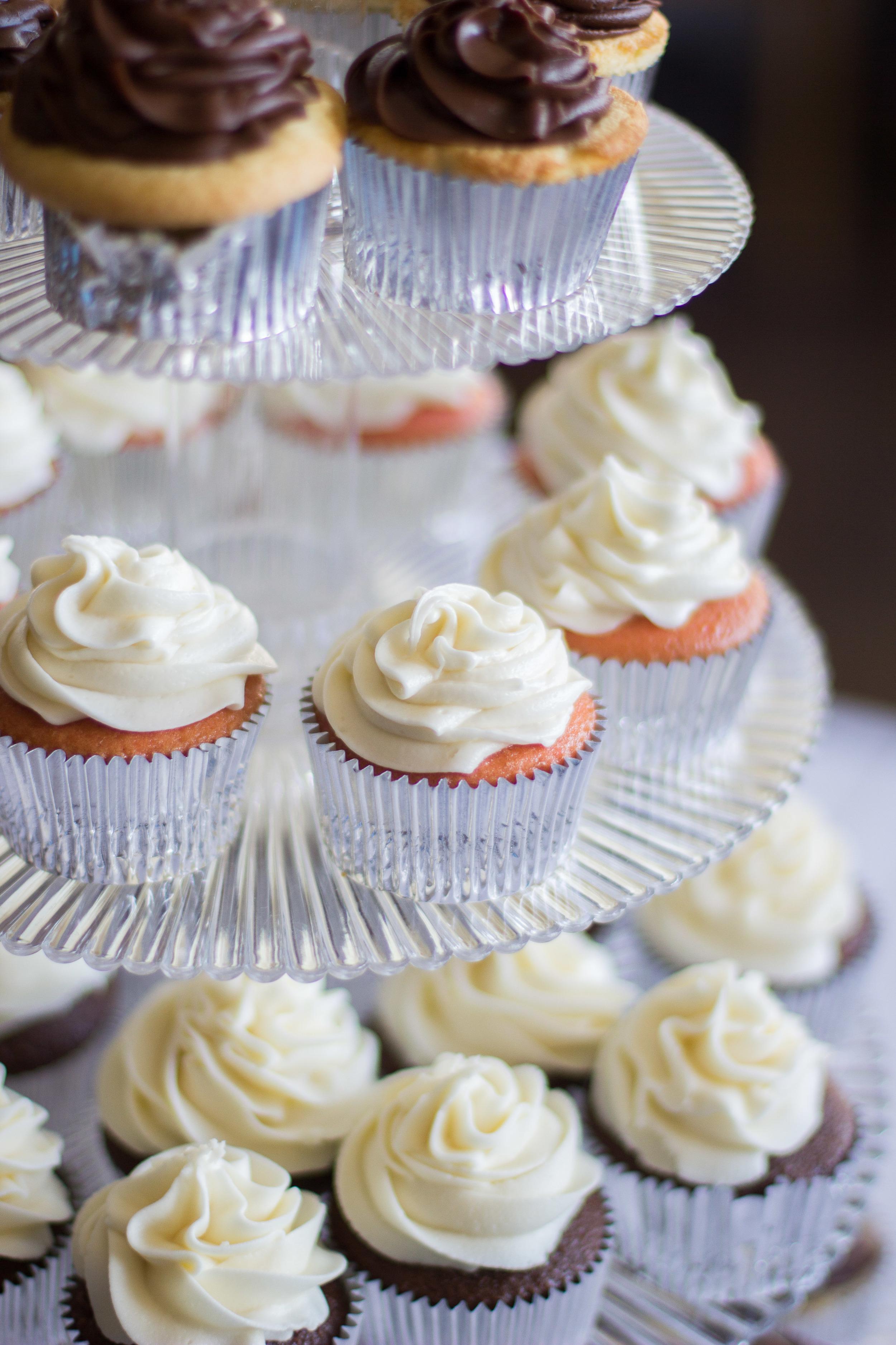 Cupcake Tier - Wedding Cake | Rustic Aqua Sea Wedding Decor | Martinsborough Wedding Reception - Greenville NC | Bryant Tyson Photography