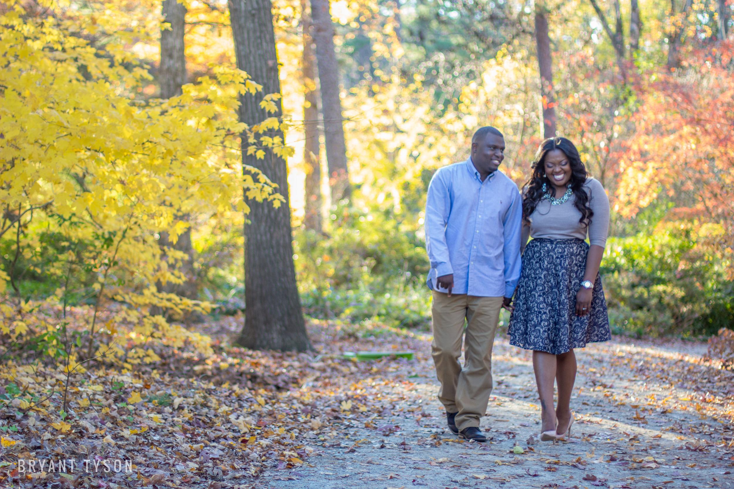 Sara P. Duke Gardens Engagement Photos : Asha + Mark | Bryant Tyson Photography | Eastern NC Wedding Photography