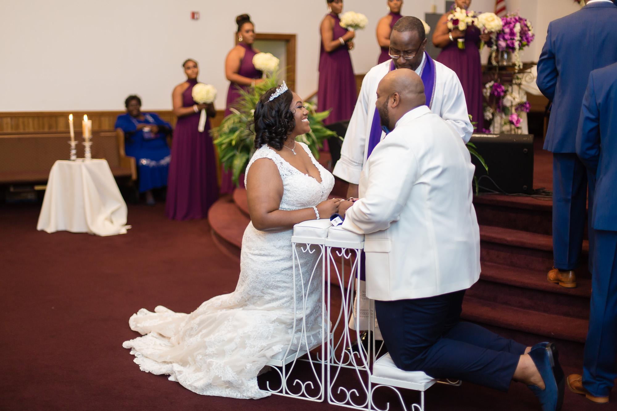 Kristin + Will   Communion   Mount Calvary Christian Center Wedding Ceremony  Greenville NC Wedding Photographer   Bryant Tyson Photography   www.memoriesbybryant.com