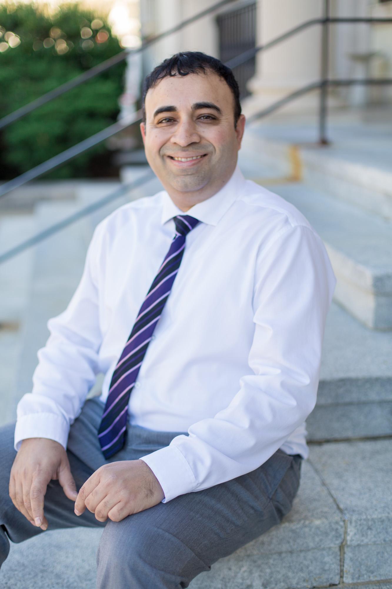 Headshots for Dr. Vikas Gupta | Greenville NC Headshot Photographer | Bryant Tyson Photography | www.memoriesbybryant.com