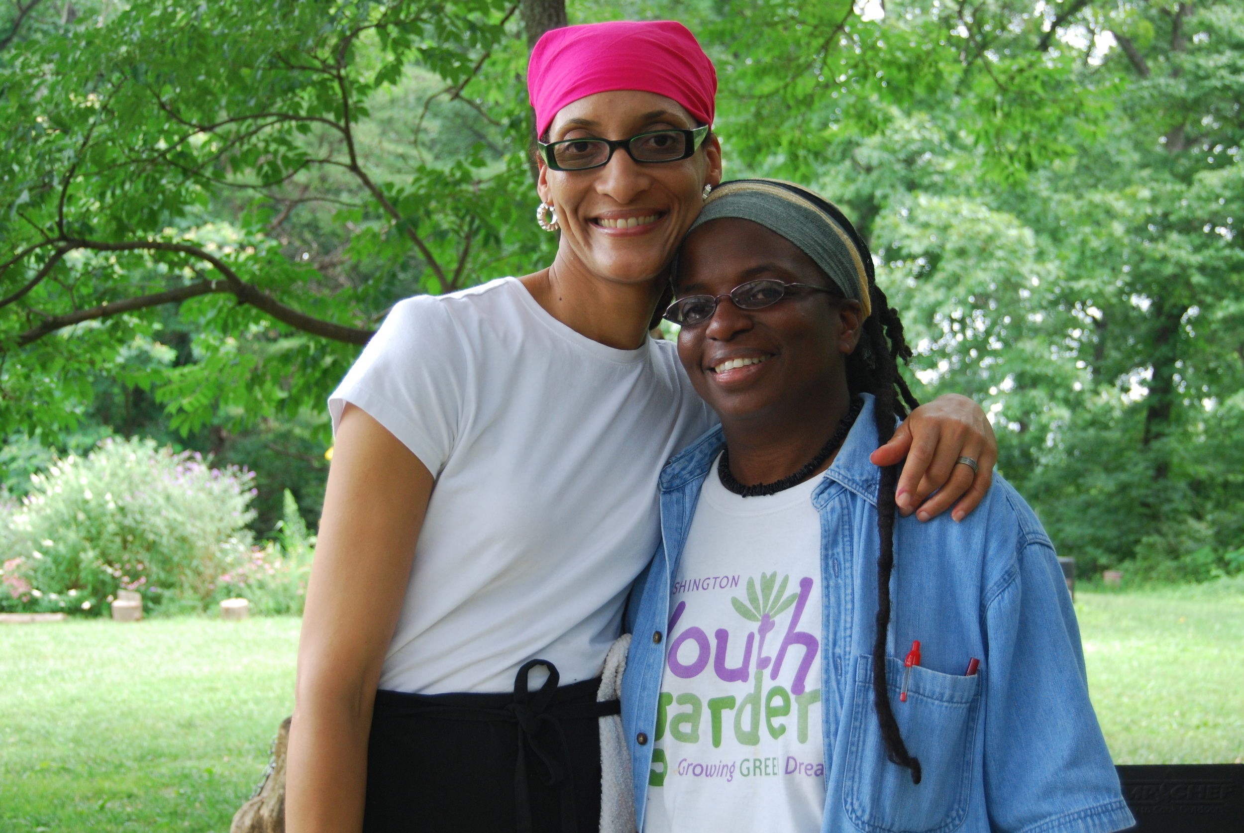 Kaifa with Carla Hall Seed to Supper 2008.JPG