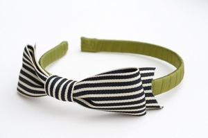 nancy drew hard headband in olive and black