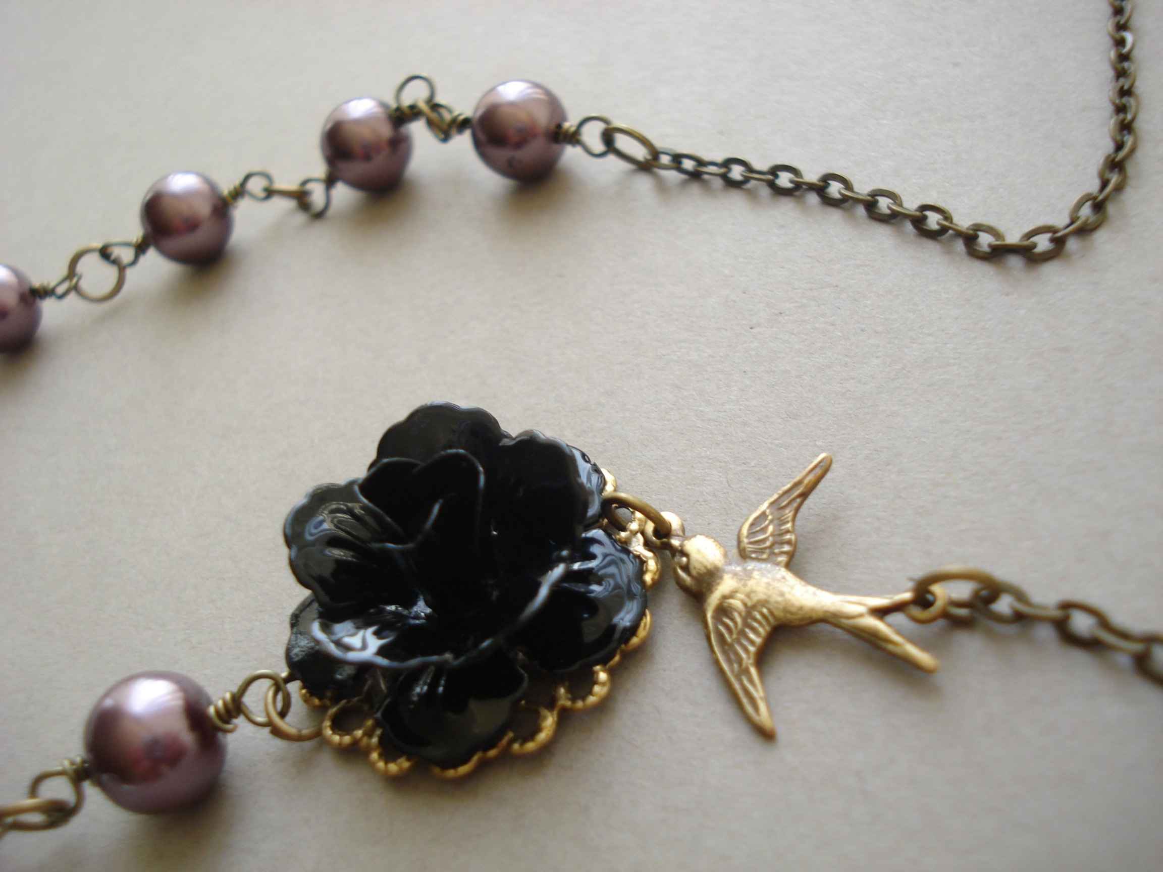black rose and sparrow