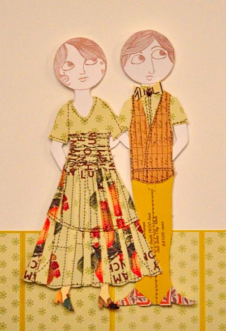 sewn people prints