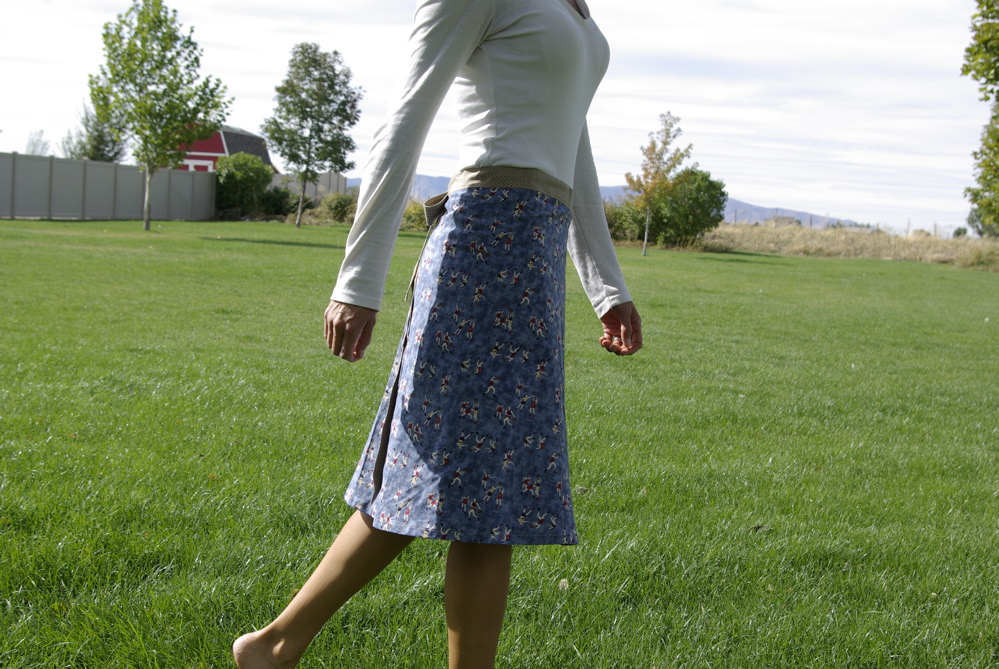 wrap around skirt by noelleodesigns