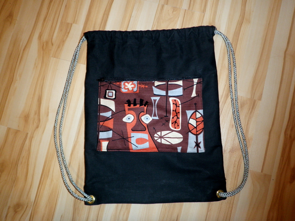 drawstring backpack by noelleodesigns