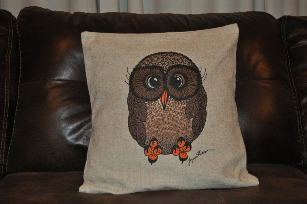 New Brown and Orange Throw Pillow