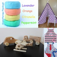 wooden toys, teepees, aprons