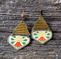 Linda-Hart-Vintage-Lotus-tin-earrings