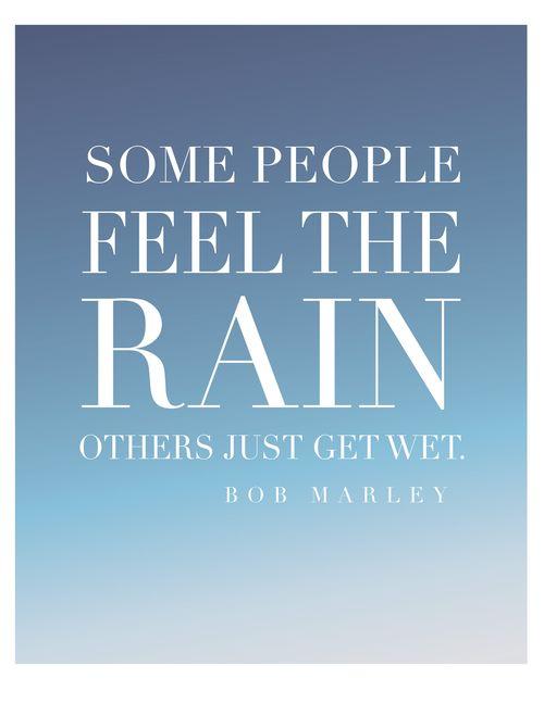 feel the rain-print