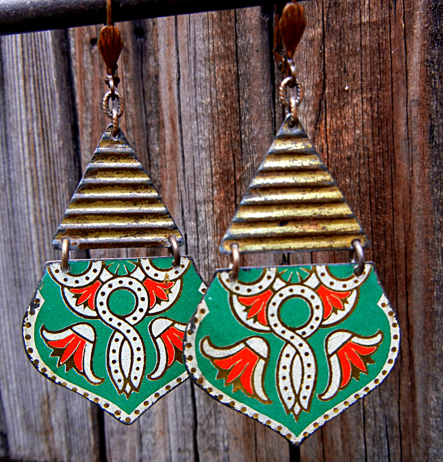 Green-Lotus-Earrings