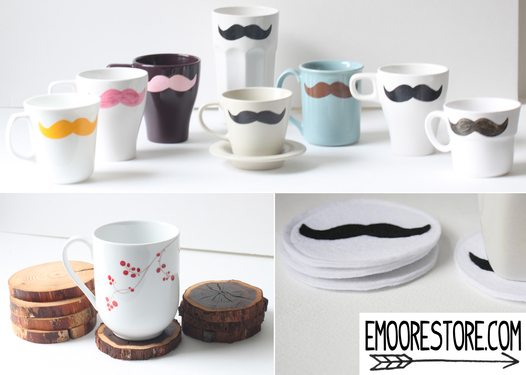 Mustache-and-Coasters