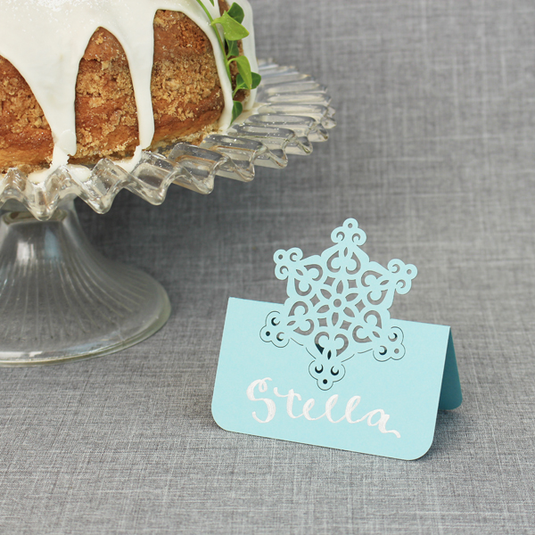 Snowflake Place Card 8