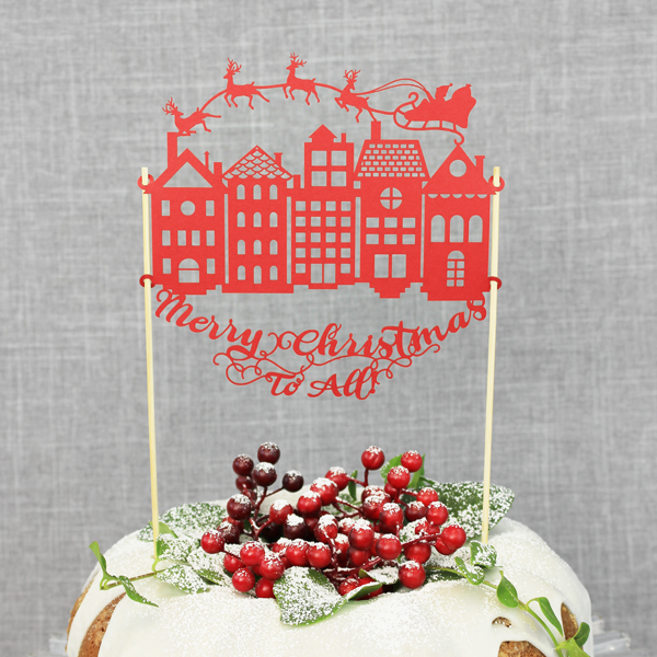 Merry Christmas to All Cake Topper 5