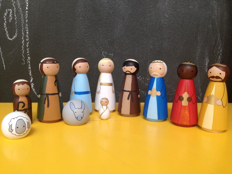 - peg doll nativity  tomi ann hill