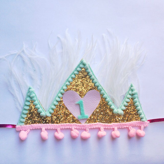 girls bday crown