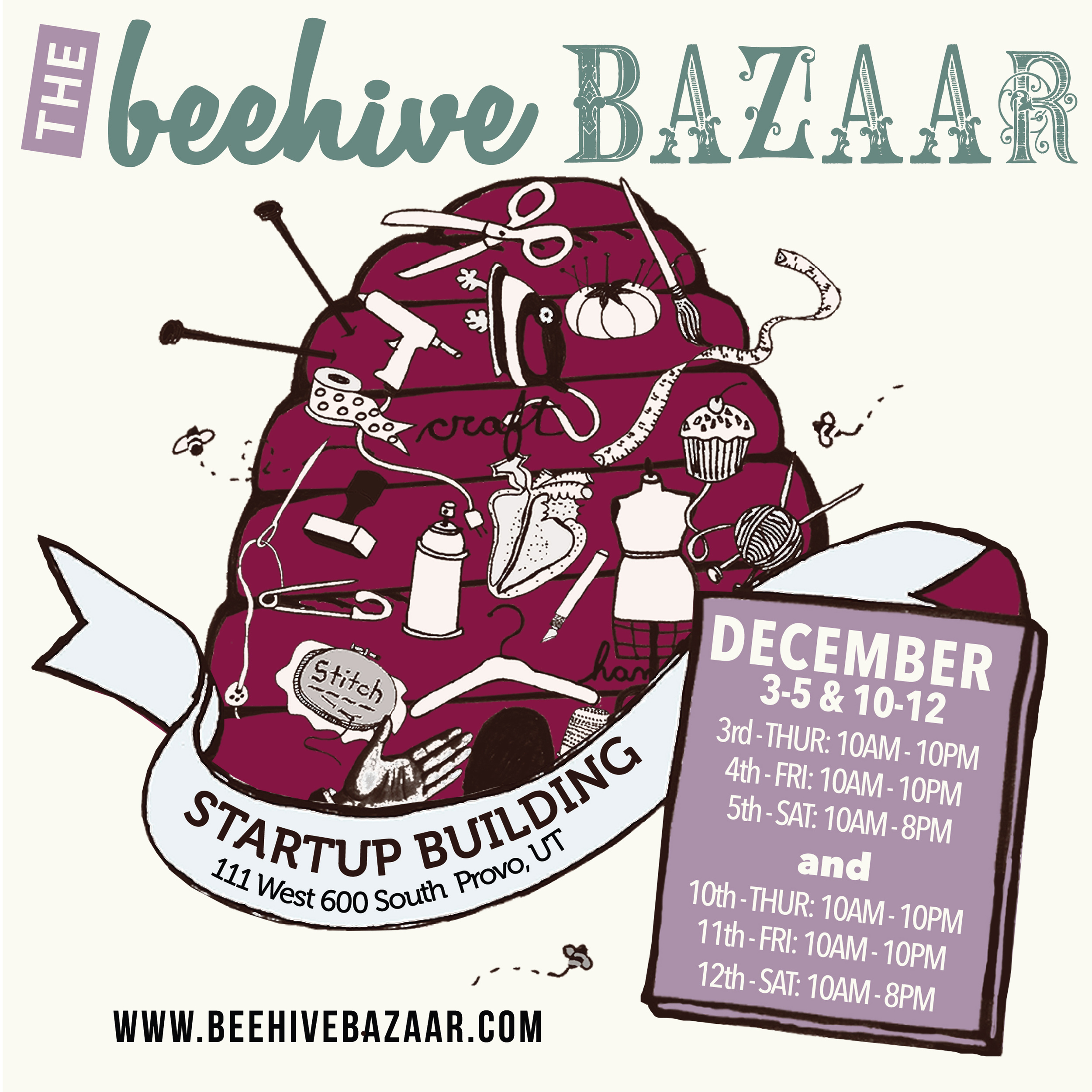Winter 2015 Beehive Bazaar postcard