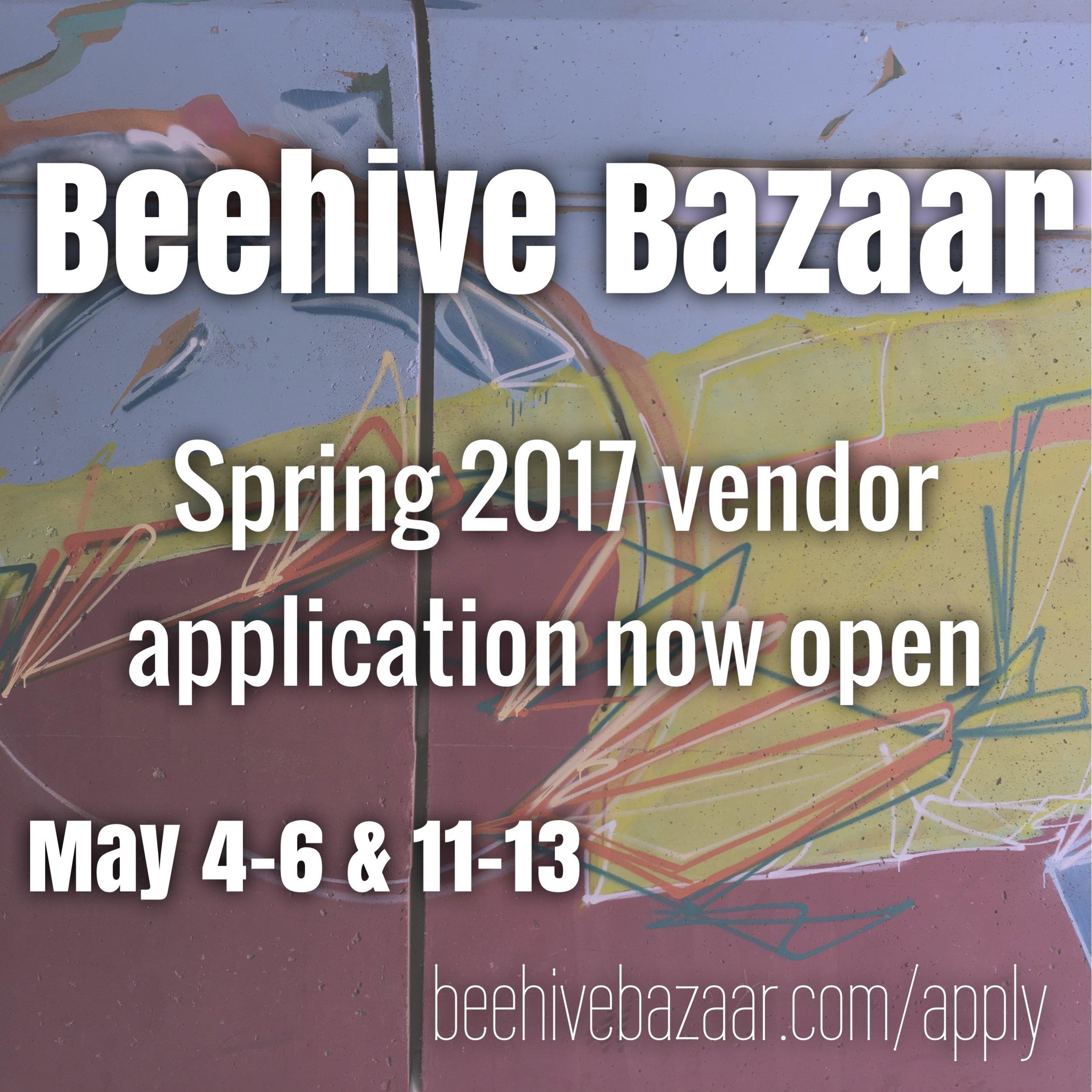 Spring 2017 Beehive Bazaar