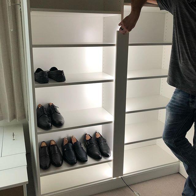 Master closet light check ✔️ . . . . #nofilter #hannahgalbreathdesign #customdesign #customhomedesign #moderndesign #interiordesign